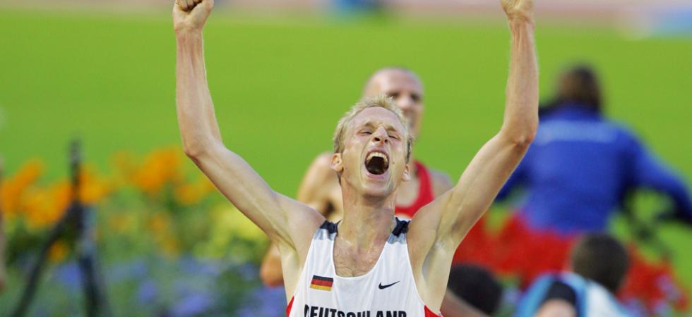Jan Fitschen gewinnt das 10.000-Meter-Rennen bei den Leichtathletik-Europameisterschaften 2006 in Göteborg.